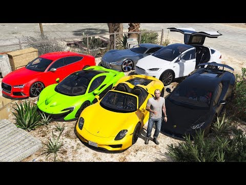 GTA 5 - Stealing Luxury Expensive Cars with Trevor! (Real Life Cars #07)