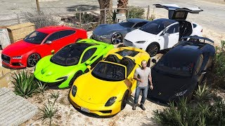 GTA 5 Stealing Luxury Expensive Cars With Trevor Real Life Cars 07