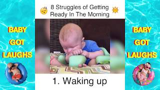 Baby Explains - 8 Struggles of Getting Ready  In The Morning | Explained By Babies! thumbnail
