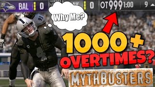 WOULD OVERTIME GO ON FOREVER OR WILL MADDEN BREAK?? Madden 17 Mythbusters!