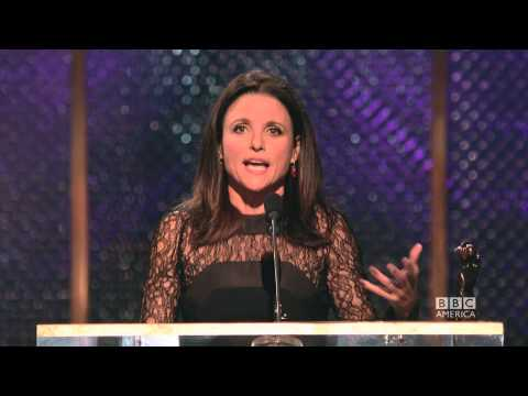 Julia LouisDreyfus Accepts Britannia with a British Accent  2014 Britannia Awards on BBC America