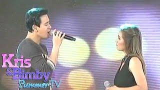 """Kris TV: Erik & Angeline sing """"Bakit ngayon ka lang?"""""""