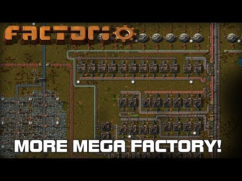Getting Trains, Oil and More Mega Factory! (Factorio Live Stream)