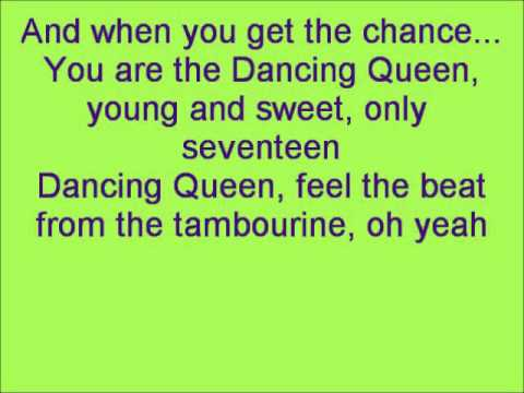 Glee Dancing Queen with lyrics