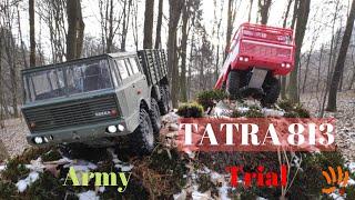 Tatra 813 8x8 Kolos, Tatra 813 8x8 Trial - winter adventure with 3D printed RC truck