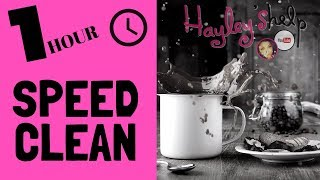 1 HOUR SPEED CLEAN | CLEAN WITH ME 2019 | POWER HOUR HOUSE