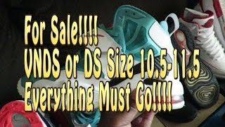 For Sale Sneaker Video: Everything Must Go!!! All Sales Final!