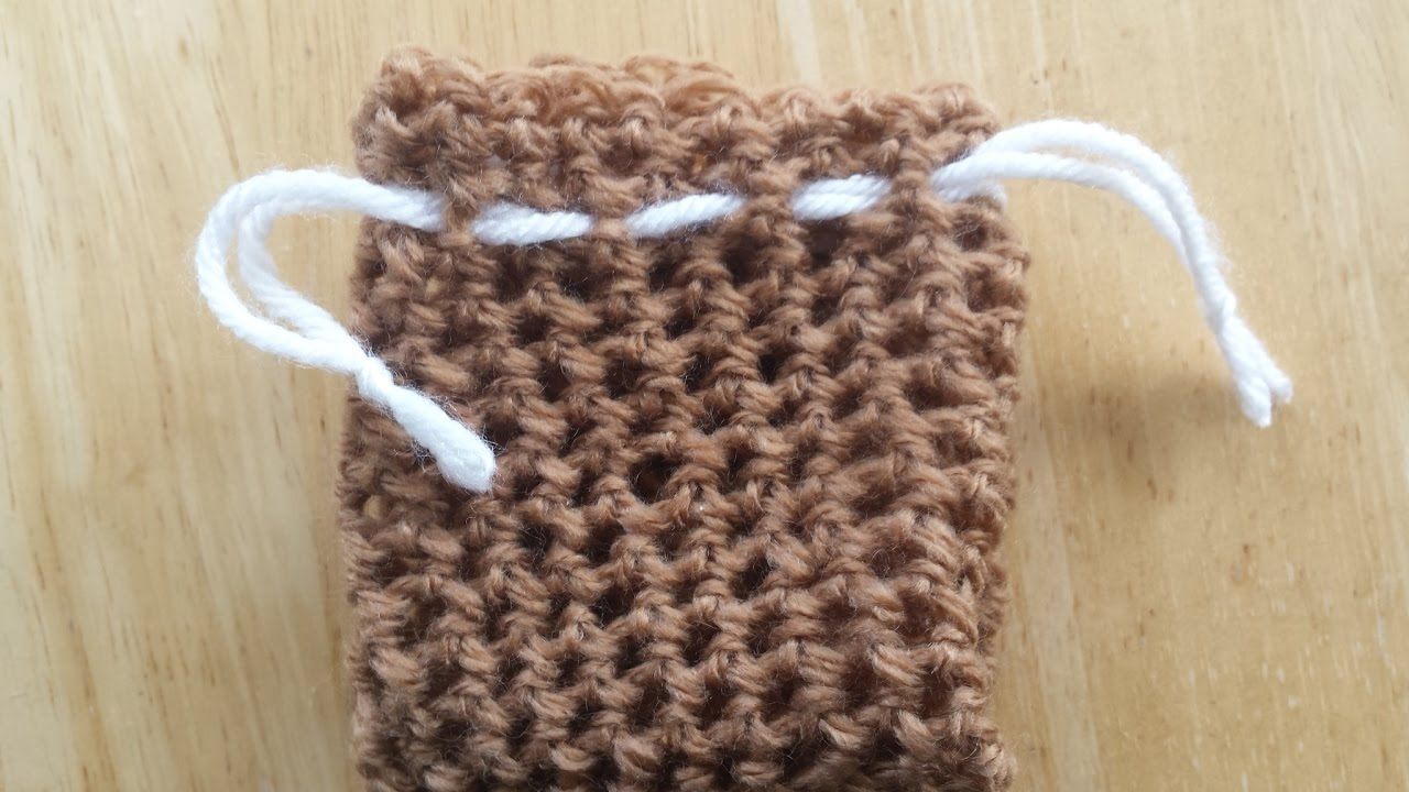 Simple Drawstring Crochet Bag - Gift Sack - Device Pouch, etc. - Any ...