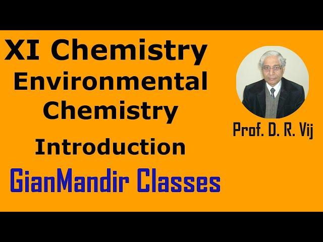 XI Chemistry | Environmental Chemistry | Introduction by Ruchi Ma'am