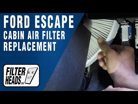 How To Replace Cabin Air Filter Ford Escape