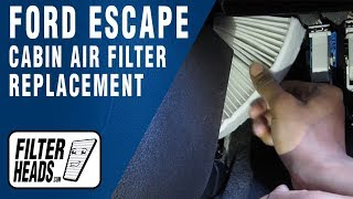 cabin air filter replacement ford escape
