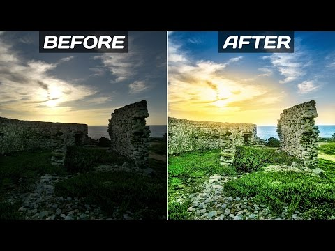 Landscape Photos Editing – Photoshop Tutorial | Retouch Sunset Photos