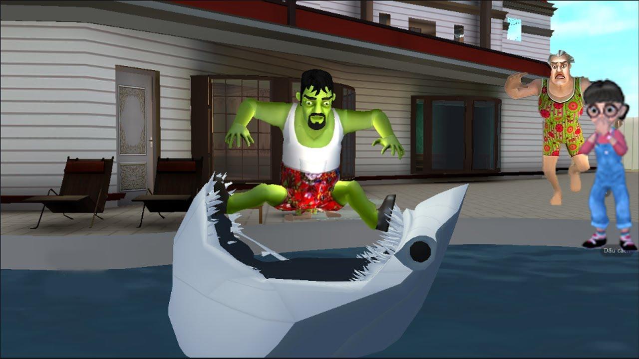 🎯GIANT SHARK VS FRANCIS -SCARY STRANGER 3D NEW CHAPTER NEW MOD APK🎯1114