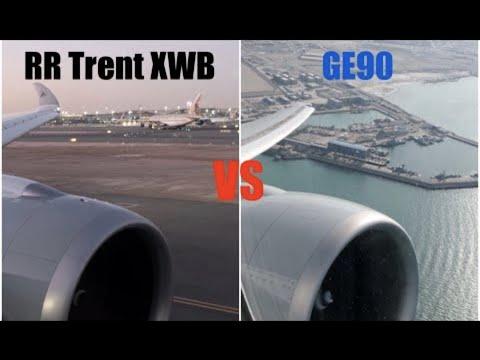 Download A350-1000 Trent XWB vs B777-300ER GE90 Engine Battle! | Startups and Takeoffs