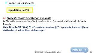 #EP 10 fiscalisé: impôts sur les sociétés (liquidation et recouvrement de l'IS)  5/5