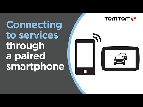 Connecting to TomTom Services on your device through a paire