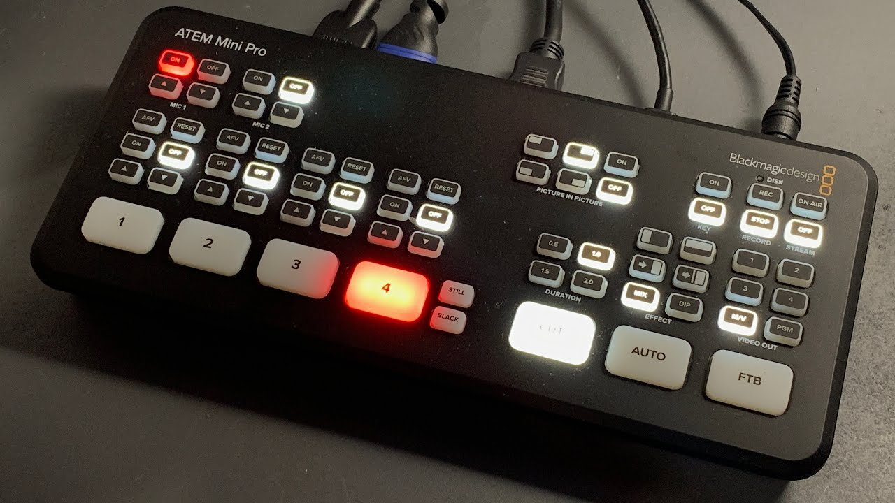 Hire A Camera Blackmagic Atem Mini Pro Hdmi Live Stream Switcher Hire Rental