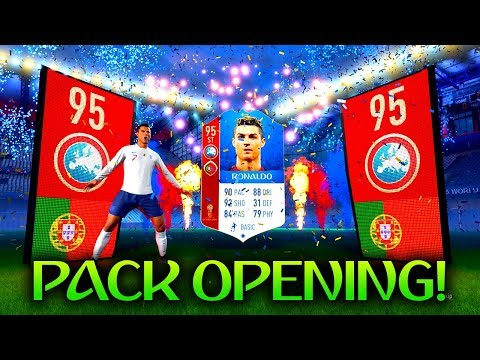 *WORLD CUP* 95 RONALDO IN A PACK! FUT 18 WORLD CUP PACK OPENING