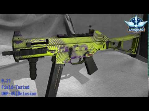 UMP-45 Delusion - Skin Wear Preview