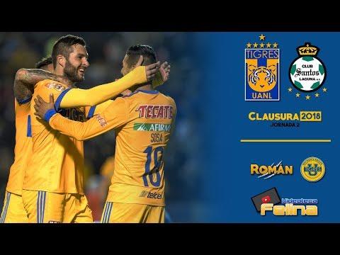 Tigres vs Santos 2-1 RESUMEN Jornada 2 Clausura 2018 Liga Mx HD