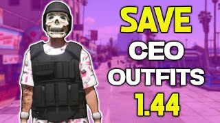 GTA 5 How To SAVE Any CEO Outfit Glitch 1.44 *EASY* (Best GTA 5 Clothes Glitches 1.44)