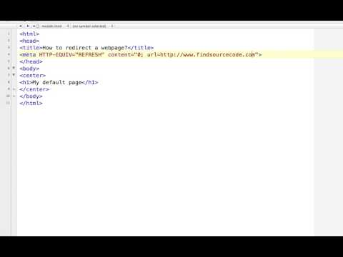 How To Redirect A Webpage Using Meta Tag In HTML