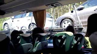 Едем автобусом из Дрездена в Берлин.