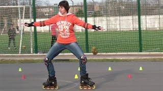 Учимся делать кораблик на роликовых коньках. Урок 15