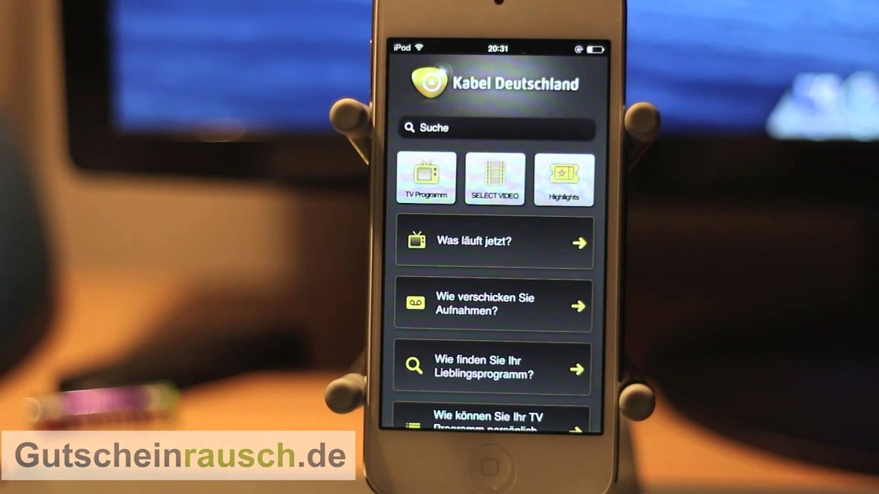 die app von kabel deutschland im test auf youtube. Black Bedroom Furniture Sets. Home Design Ideas