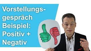 Vorstellungsgespräch richtig: Beispiel positiv + Beispiel negativ // M. Wehrle