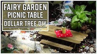 Dollar Tree Fairy Garden Picnic Table DIY - Great Kids Craft - YouTube