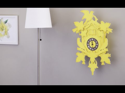 What does a paper cuckoo clock look like?