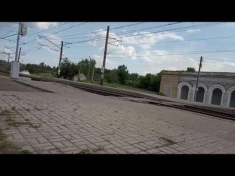 Опоздавший. Электропоезд Лиман-Харьков ЭР2Р-7070