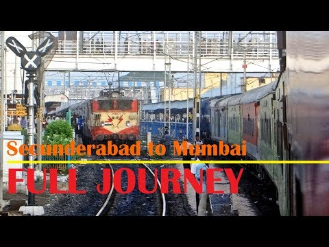 Full Journey in Secunderabad Mumbai LTT Duronto Express | DECCAN Plateau to BHOR Ghats