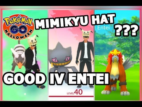 POKEMON GO MIMIKYU HAT | GOOD IV ENTEI | HOUNDOOM INCENSE SPAWN
