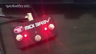 Disaster Area MIDI Baby 3 with Line 6 HX Stomp