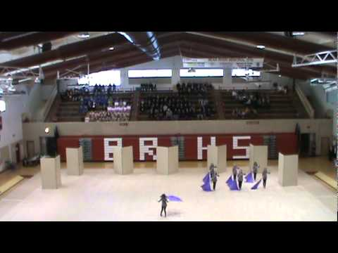 Wasatch Academy Winter Guard competes at Bear River High School on 2-26-11