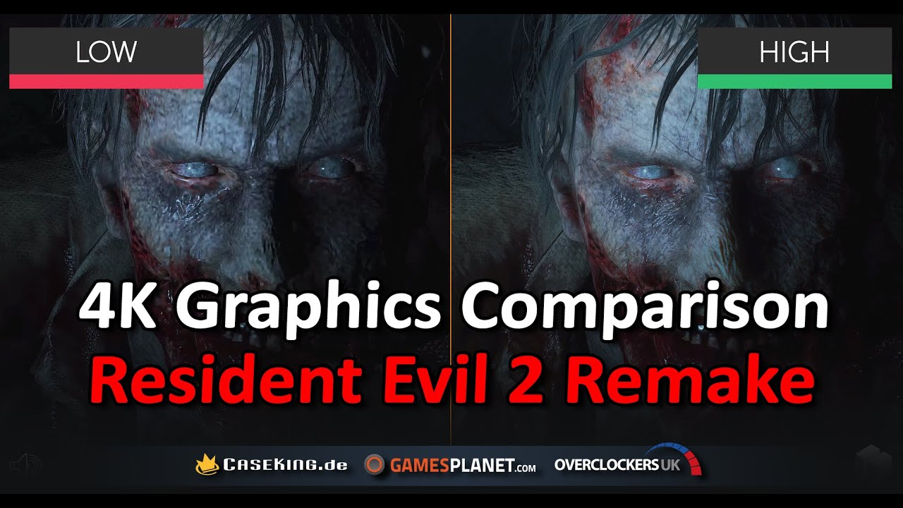 Resident Evil 2 Remake Graphics Comparison High vs Low | PC | 4K UHD
