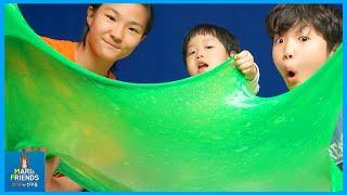 초거대 액체괴물만들기 도전하다 ♡ 진짜가 나타났다! 로기 또히 미니 초대형 액체괴물 How to make super slime clay | 말이야와친구들 MariAndFriends