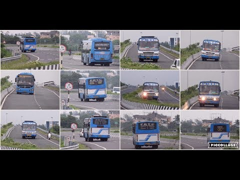 PRTC buses plying on the busy Pondicherry Chennai ECR route