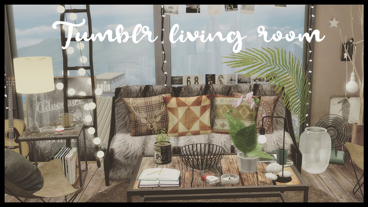 Sims 4 City Living Tumblr Loft Apartment