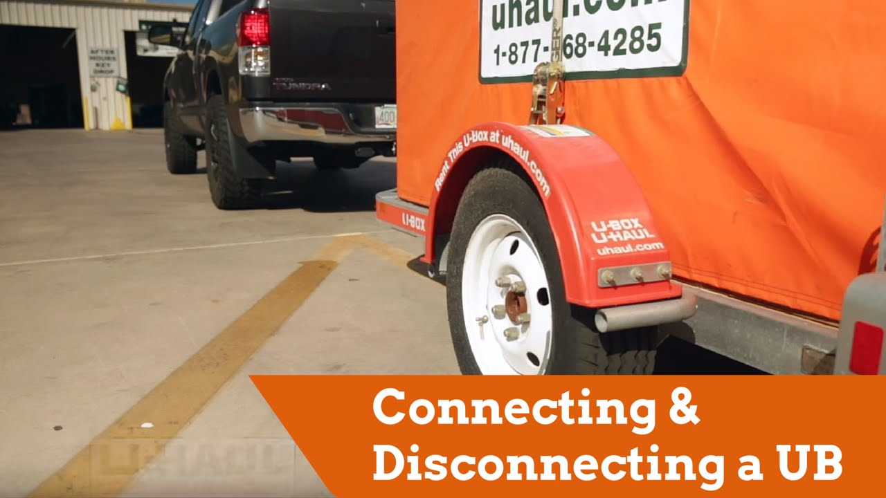 How To Connect And Disconnect A U Box Trailer Youtube Uhaul Wiring