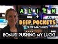 Stupid Mistakes Lose Me $200! BONUSES! Alien and Deep Pockets Slot Machines!!!