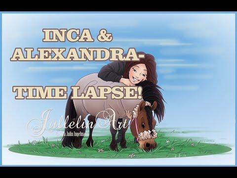 Inca & Alexandra- Time Lapse Drawing!