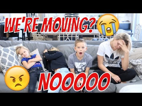 TELLING OUR KIDS WE'RE MOVING | THE LEROYS