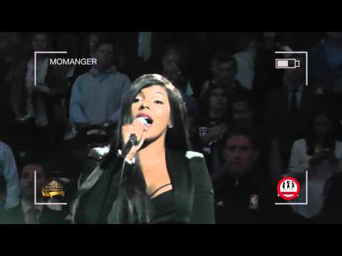 Ashanti Sings The National Anthem Of The United States Of America