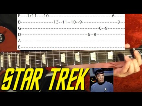 Star Trek TV Show Theme - Guitar Lesson WITH TABS