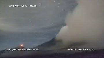 Transmisión del Volcán Popocatépetl 20 de junio 2020