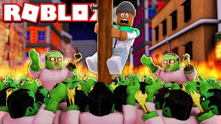 Survive 1,000,000 ZOMBIES in Roblox!!