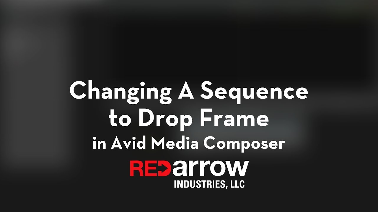 Changing A Sequence to Drop Frame in Avid Media Composer - YouTube